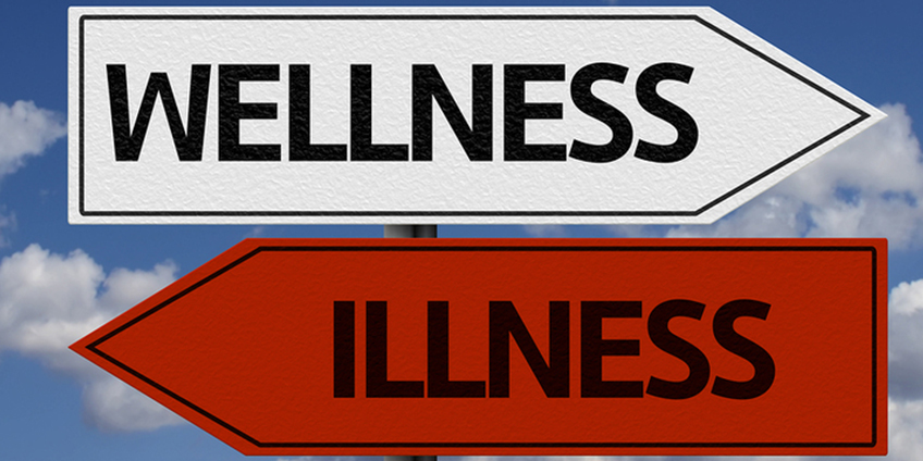 Wellness and Illness direction signs