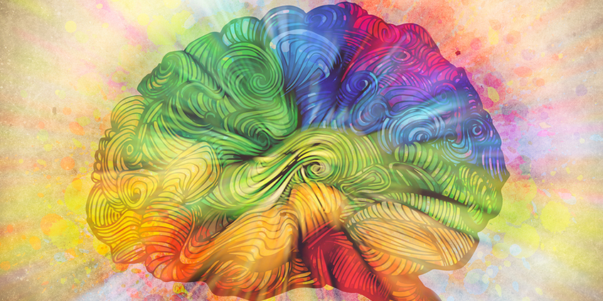 Rainbow brain art